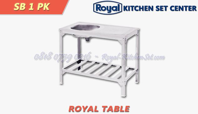 ROYAL TROLLEY AND TABLE ROYAL TABLE 01<br>(SB 1 PK) 1 produk_royal_kitchen_set_table_01